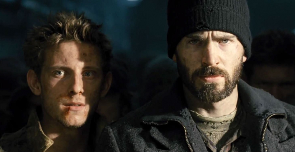 Jamie-Bell-and-Chris-Evans-in-Snowpiercer-2013-Movie-Image1